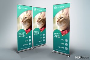 Pet Shop Roll-Up Banner - SK