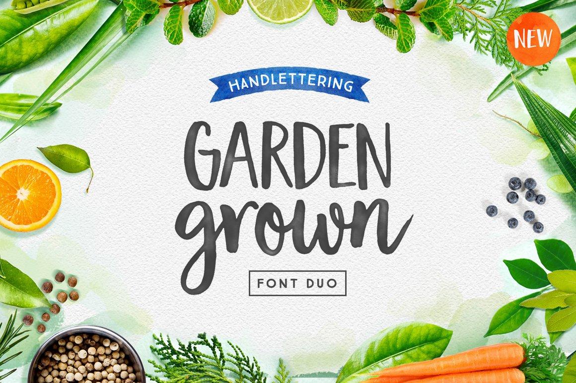 garden grown font duo script fonts creative market