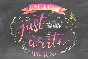 Just Write Hand Lettered Font