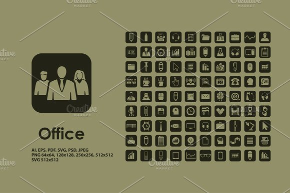 Office icons in Graphics - product preview 1