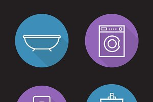 Bathroom icons. Vector