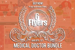 6 Medical Doctor Flyers Bundle