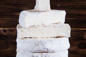 Homemade camembert cheese