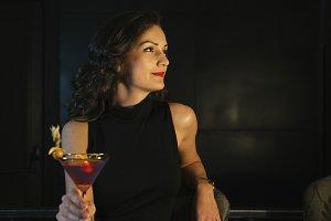 Elegant Woman In a Night Club.