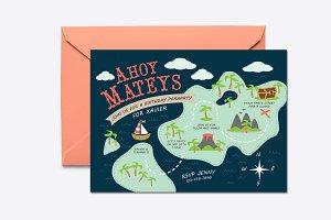 Ahoy Mateys Invite Template