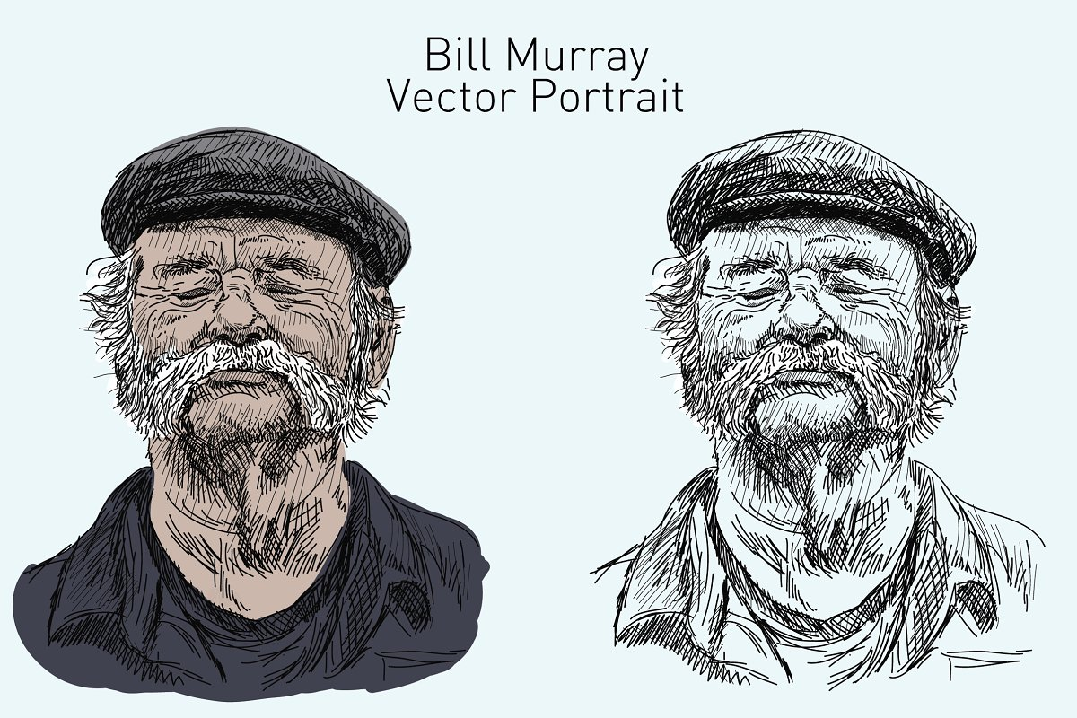 Bill Murray Vector Portrait in Illustrations - product preview 8
