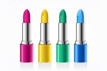 Lipstick Color Set. Vector