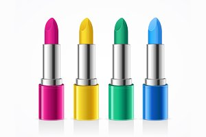Lipstick Color Set. Vector