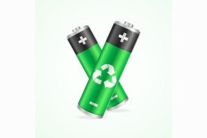 Recycling Concept Battery. Vector