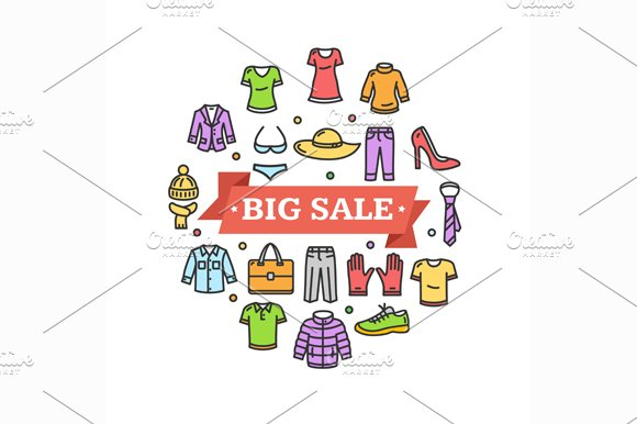 Big Sale Concept. Vector - Illustrations