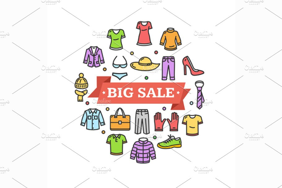 Big Sale Concept. Vector in Illustrations - product preview 8