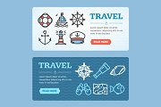 Travel Banner Set. Vector