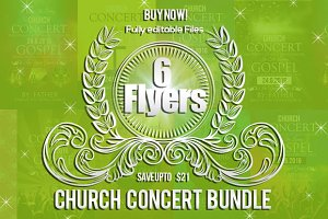 6 Jesus Church Concert Flyers Bundle