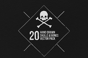 Hand Drawn Skulls & Bones Vectors