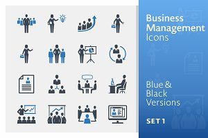 Business Management Icons 1 | Blue