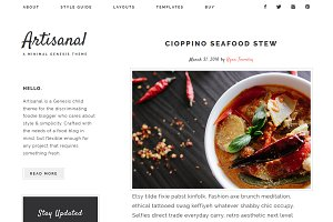 Artisanal - Genesis food blog theme