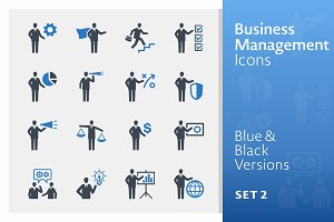 Business & Management Icons 2 | Blue