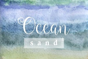 Ocean sand watercolor texture