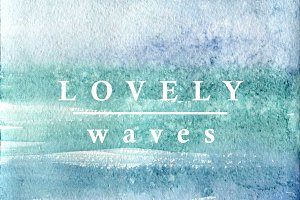 Waves watercolor texture