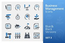 Business & Management Icons 3 | Blue