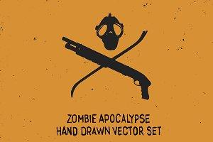 Zombie Apocalypse Vector Set
