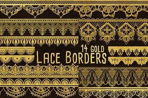 Gold Clip Art - Lace Border Clipart