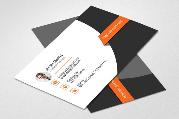 Creative business card template card templates creative market accmission Image collections