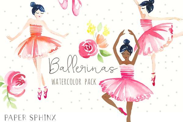 Sweet Ballerinas Watercolor Pack
