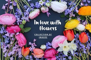 In love with flowers - photo pack