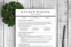 "Resume Template ""Hayden"""