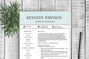 "Resume Template ""Kennedy"""