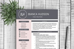 "Resume Template ""Bianca"""