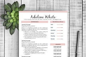 "Resume Template ""Adaline"""