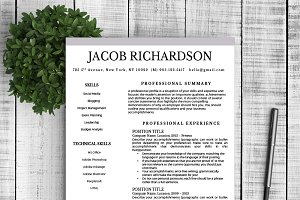 "Resume Template ""Jacob"""