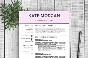 "Resume Template ""Kate"""