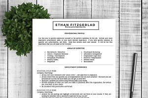 "Resume Template ""Ethan"""