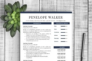 "Resume Template ""Penelope"""