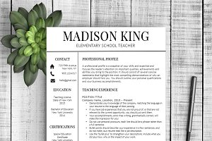 "Resume Template ""Madison"""