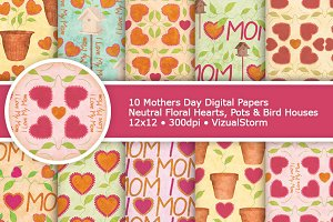 Floral Mothers Day Digital Patterns