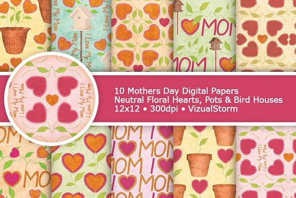 Floral Mothers Day Digital Patterns