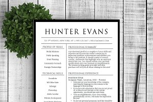 Resume & Cover Letter - Hunter