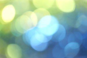 blue green bokeh vivid color