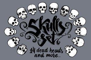 Vector skulls set