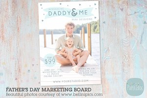 IF011 Father's Day Marketing Board