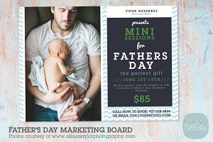 IF015 Father's Day Marketing Board