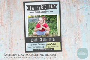 IF018 Father's Day Marketing Board