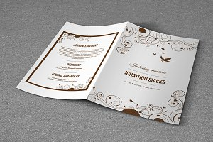 Funeral Program Template-T489