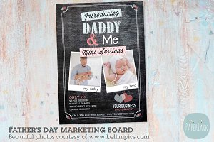 IF008 Father's Day Marketing Board