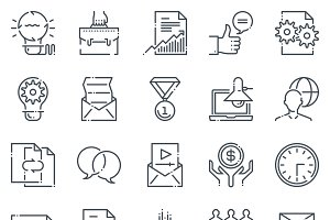 Project development icon set