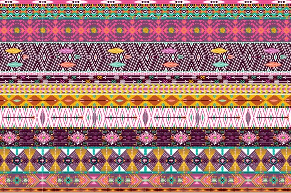 Collection Bright Aztec Patterns in Patterns - product preview 1